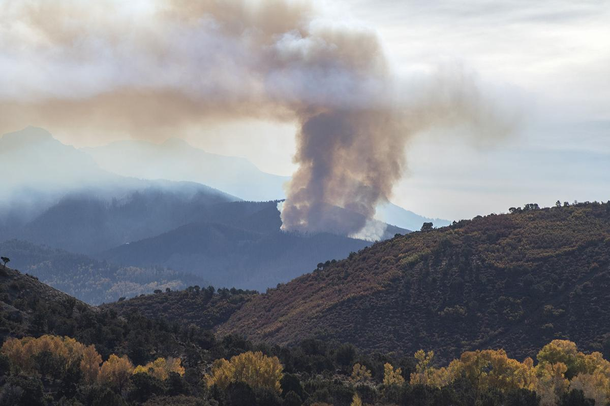 Cow Creek Fire burning in Ouray County