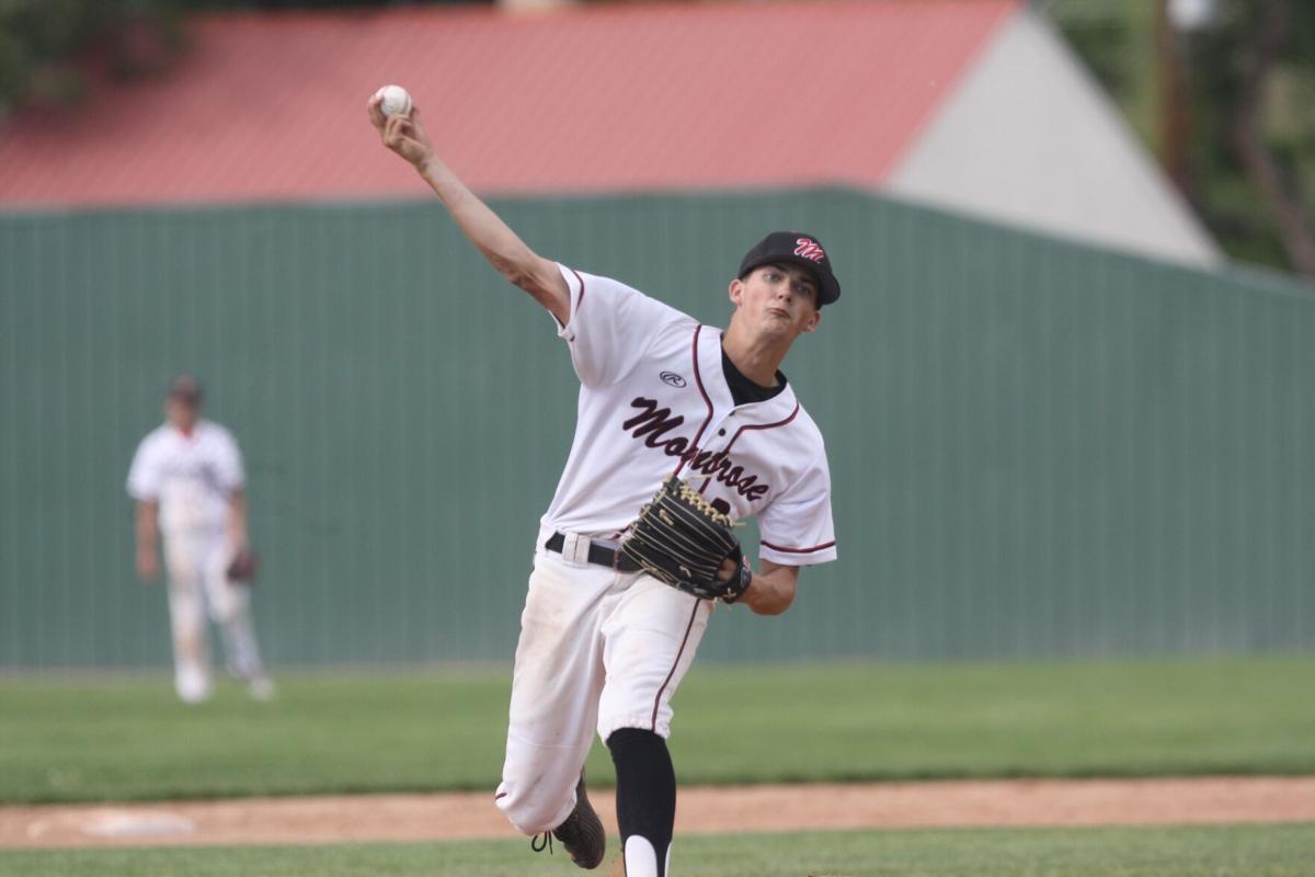 Montrose baseball Nolin Boone pitching v Grand Junction