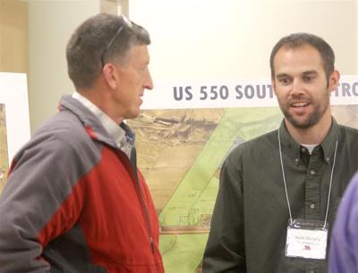 Del-Mont Consultants Inc. President Steve Stevenson speaks with Montrose City