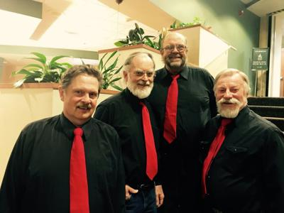 Singing out for Valentine's Day: Quartet serenades sweethearts