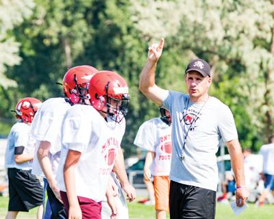 Montrose High School head football coach Brett Mertens