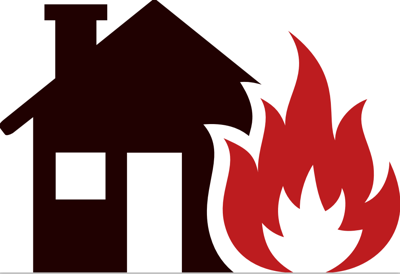 House fire graphic