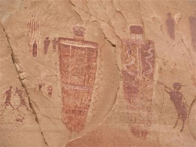 Barrier Canyon-style rock art