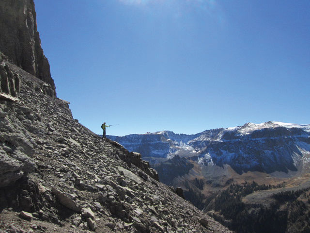 Foot travel on the passes in the San Juan Mountains