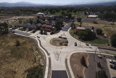 An above view of the Miami-Hillcrest roundabout.