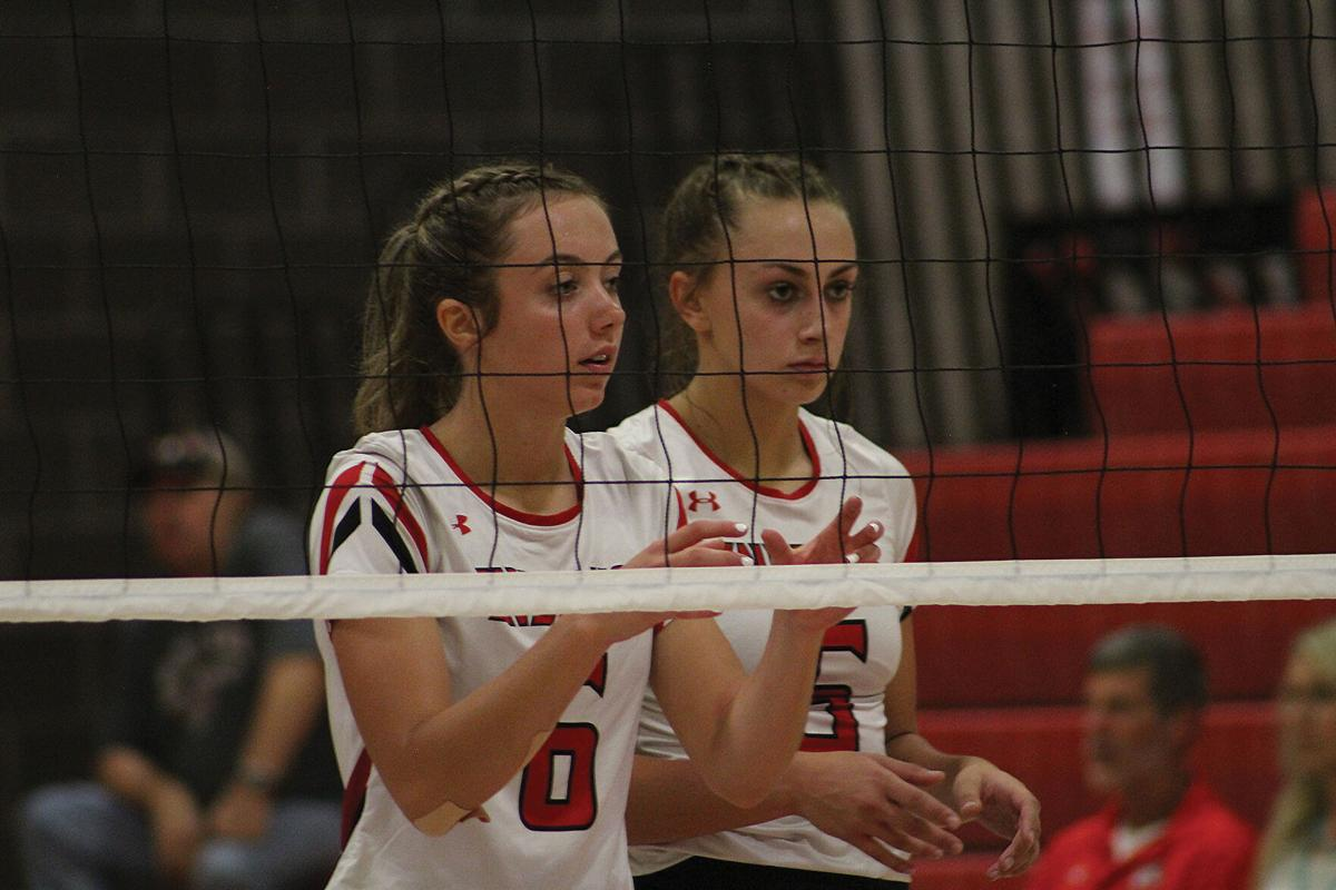 MHS volleyball Taylor Foster and Taygan Rocco v Palisade Aug. 26