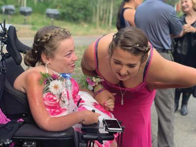 Kate Saldana and camp counselor Elise Miles