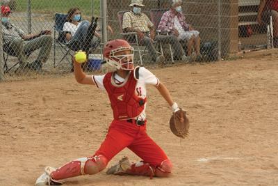 MHS softball catcher