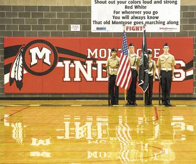 NJROTC with signs