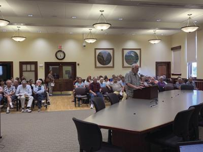 Chris Hauck speaks to the Montrose Planning Commission