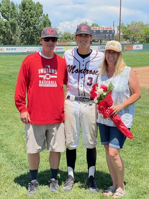 Senior Day Montrose baseball Nolin Boone
