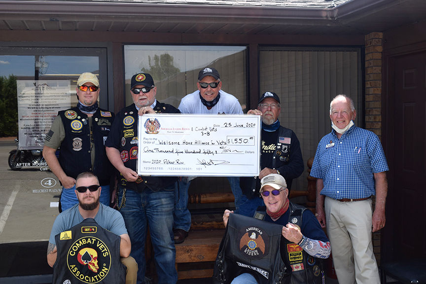 Legion Riders, Combat Vets Association in Montrose present $1,550 check to Welcome Home Alliance for Veterans