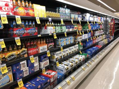 A sample of the 3.2 beer selection at a Safeway in Denver
