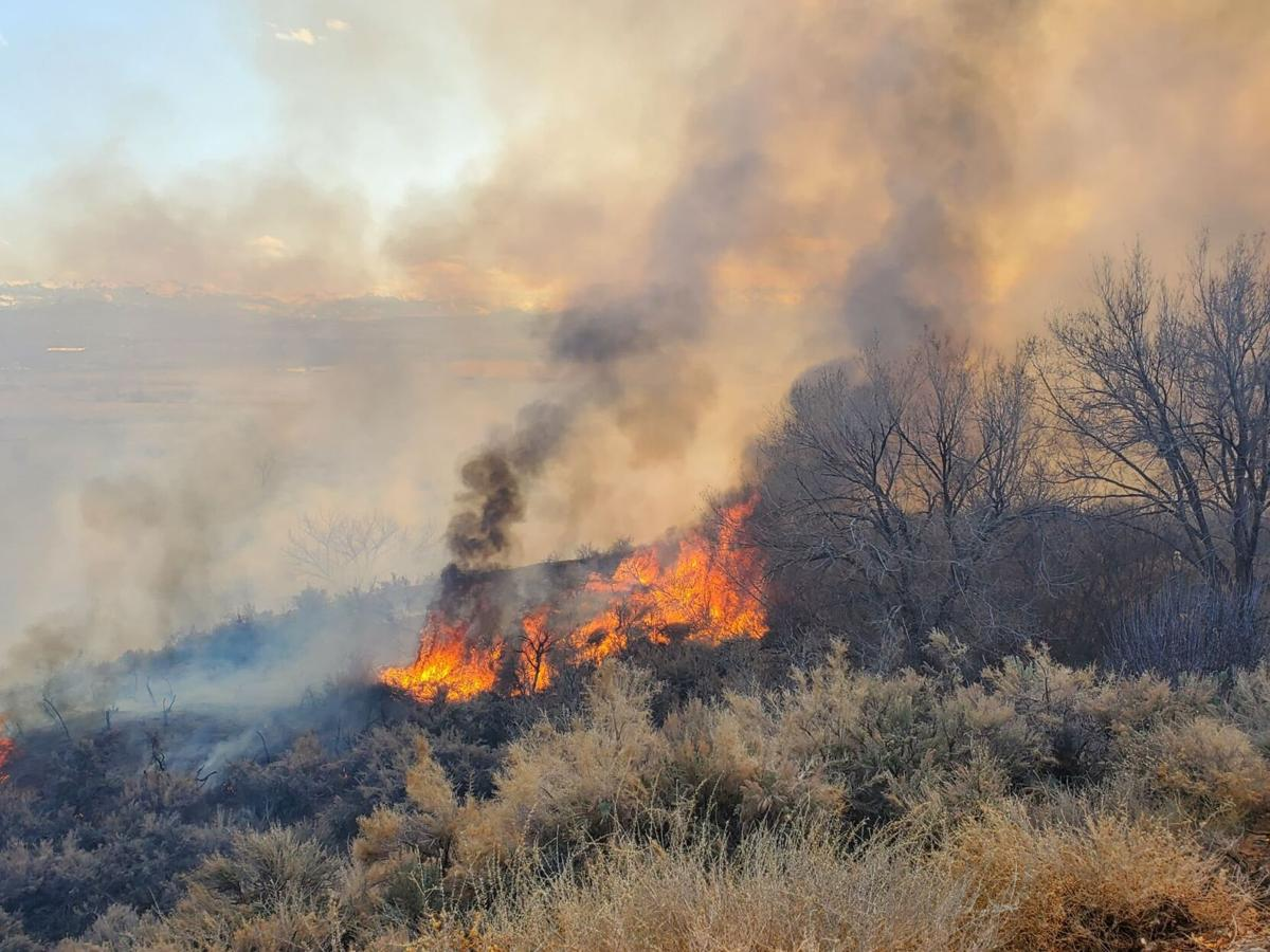 Crews tackle brush fire off Spring Creek Road