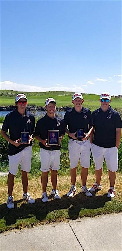 The Montrose High School boys golf team
