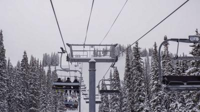 The Ajax Express chairlift on Aspen Mountain
