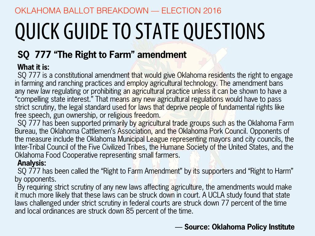 """SQ  777  — """"The Right to Farm"""" amendment"""