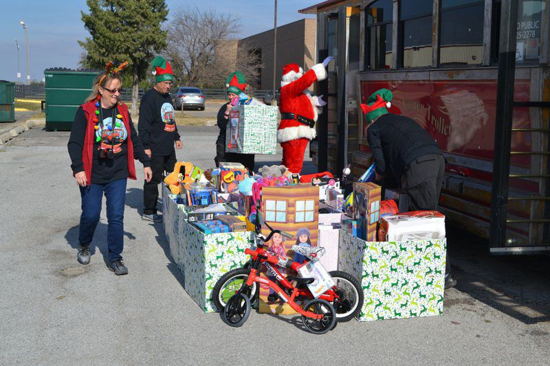 CART trolley delivers toys to county Christmas Store
