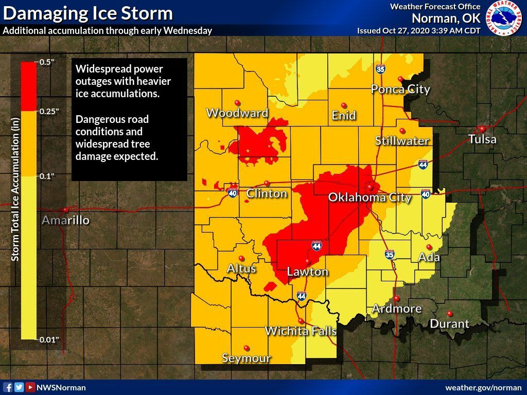 NWS Damaging Ice Storm