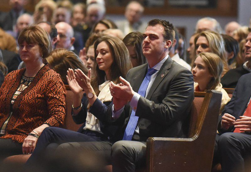 Stitt says God called him to run for governor at prayer service