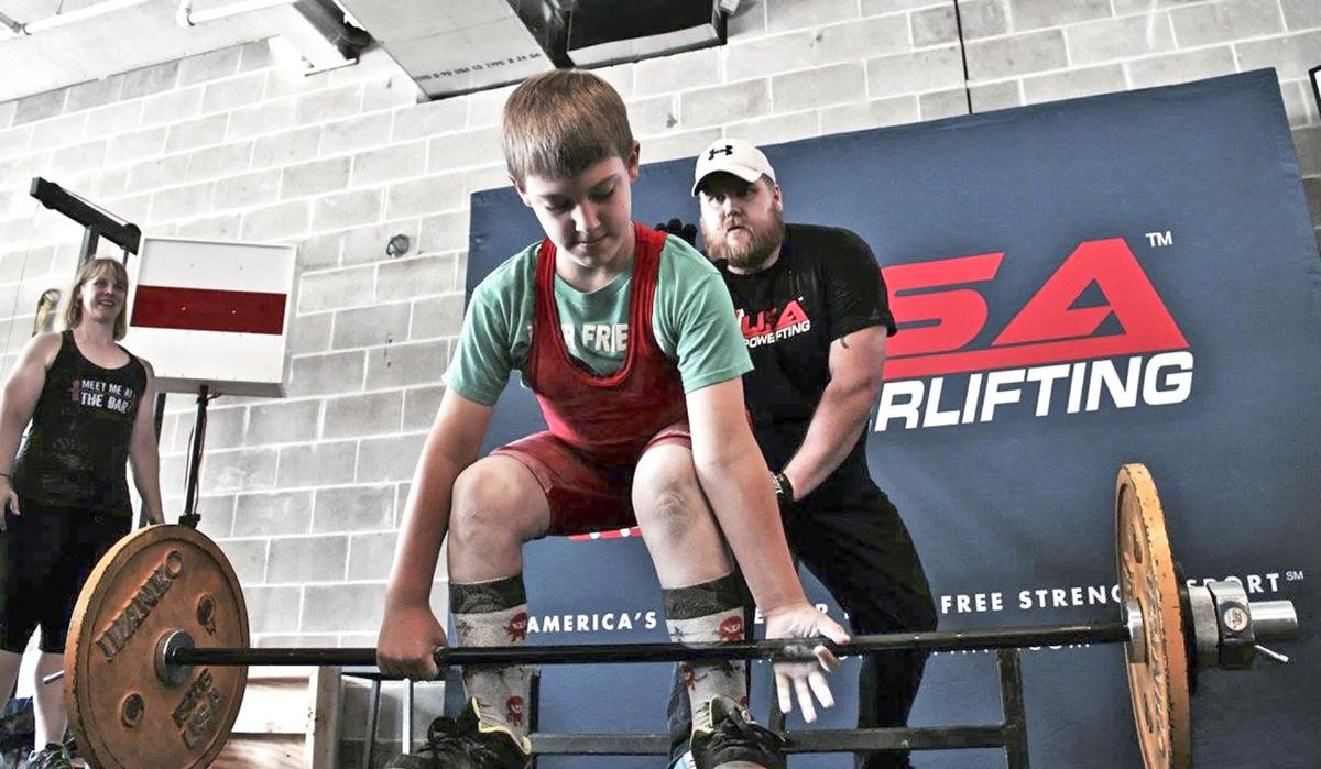 Mother son form powerlifting pair news moraminn oliver solomon age 9 of brook park prepares to perform a deadlift at a usa powerlifting competition falaconquin