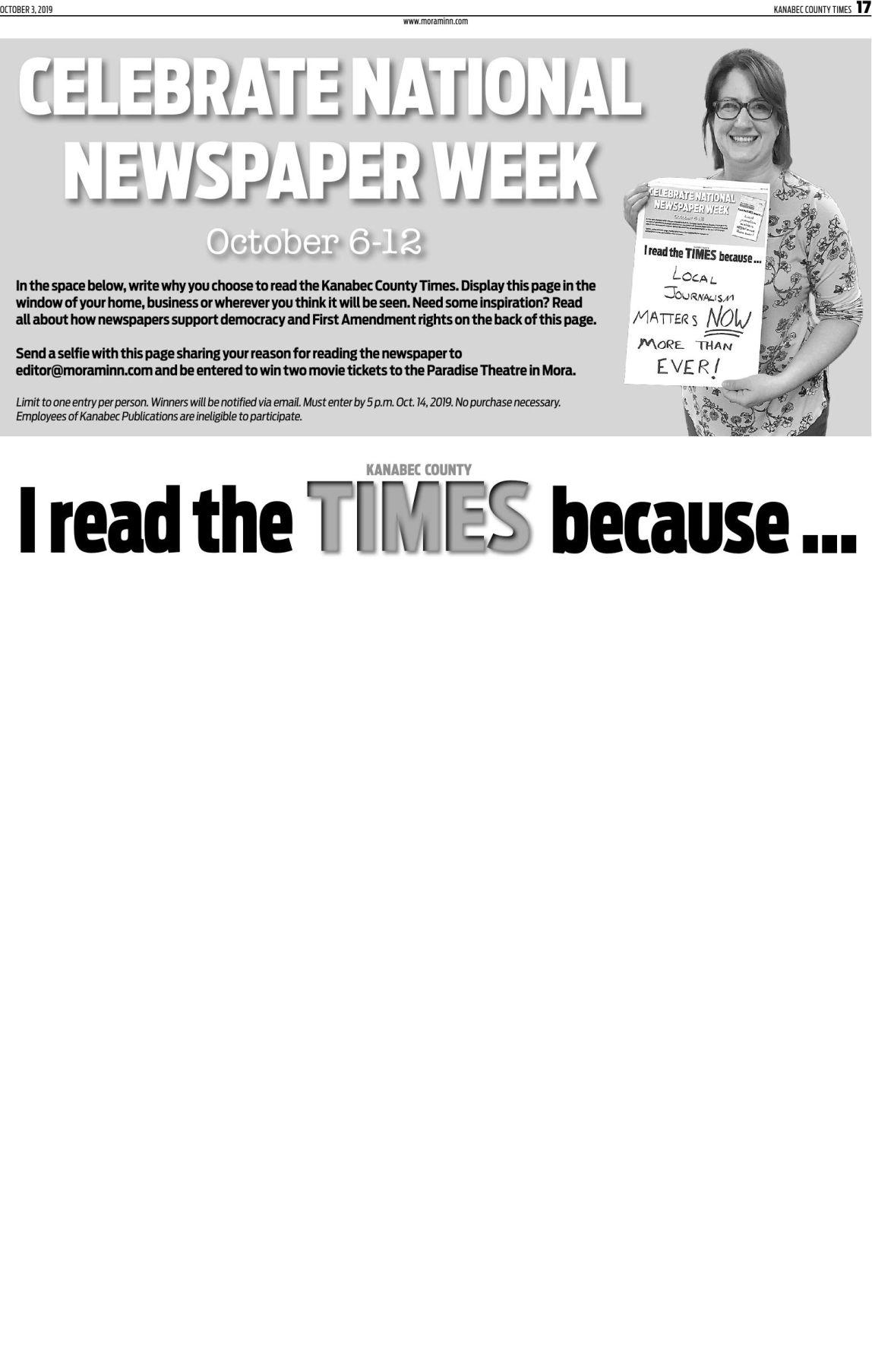 National Newspaper Week Contest