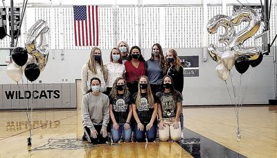 Athens volleyball players reach milestones
