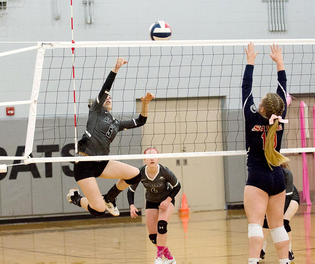 Lady Wildcats spike rival Redskins