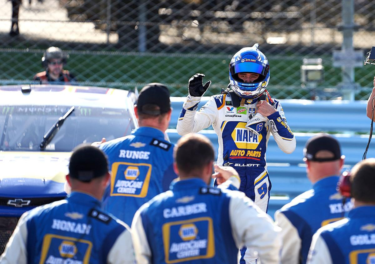 Chase Elliott celebration