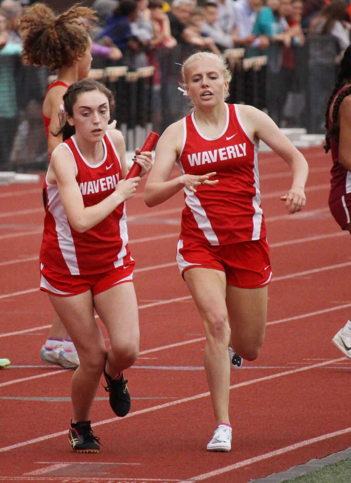 Lady Wolverines relay off to states
