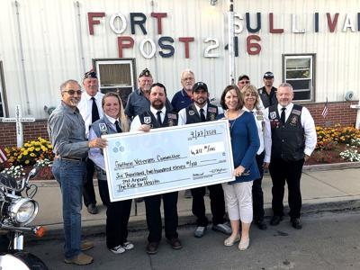 American Legion Riders donate to Guthrie Veterans Committee