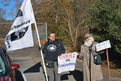 Reclaiming Armistice Day -- Two men trek across Valley to raise awareness