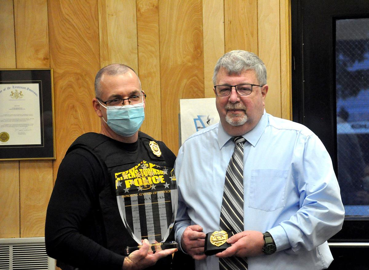 Athens Township honors recent police department retirees