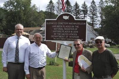 Marking history -- Glenwood cemetery and mausoleum unveils historical marker