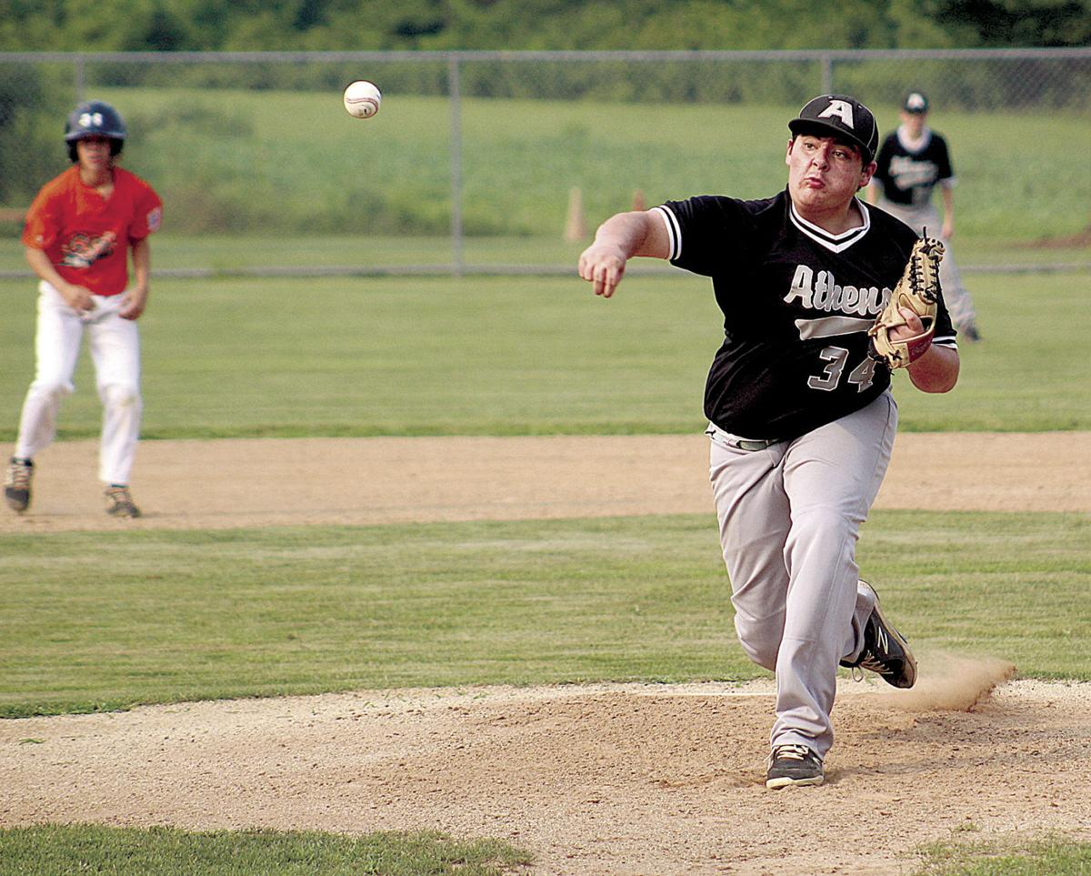 Athens juniors turns on cruise control in second inning in win