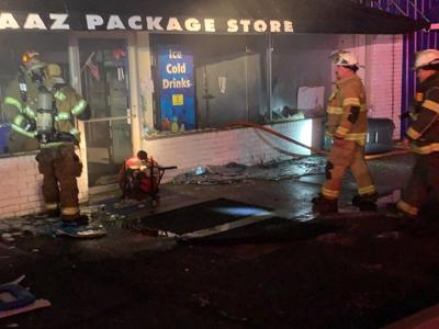 Fire destroys Taaz Package Store in Town Creek