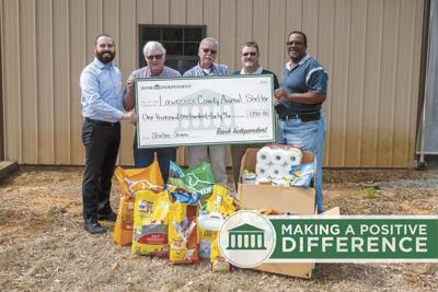 LC Animal Shelter benefits from Bank Independent annual Shelter Share