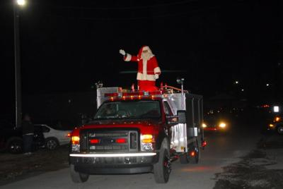 Moulton 2020 Christmas Parade Santa Claus got a ride on a fire truck during last week's Town