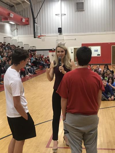 Ms. Alabama speaks to students