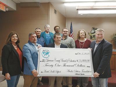 Marlee Foundation presents check to School Board