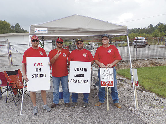 Moulton CWA members participate in strike against AT&T that ended Wednesday
