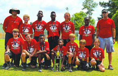 YMCA flag football champions