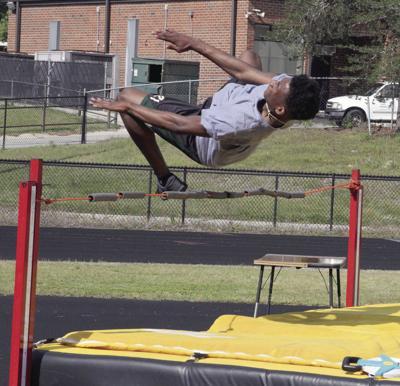 Ward on the high jump