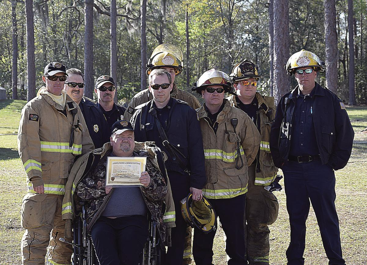 Clayton trains with firefighters