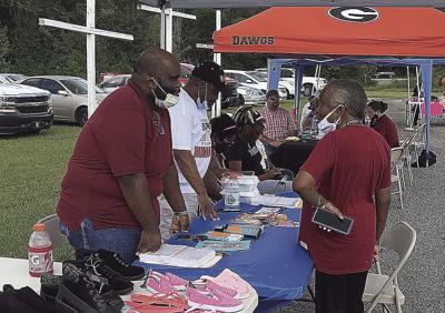 Voter registration tent