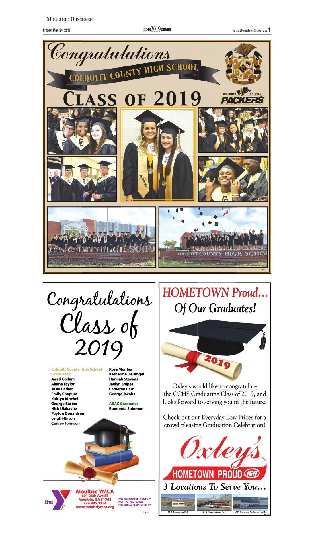CCHS graduation 2019