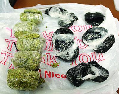 Suspected marijuana, tobacco found