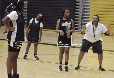 Lady Packers in practice