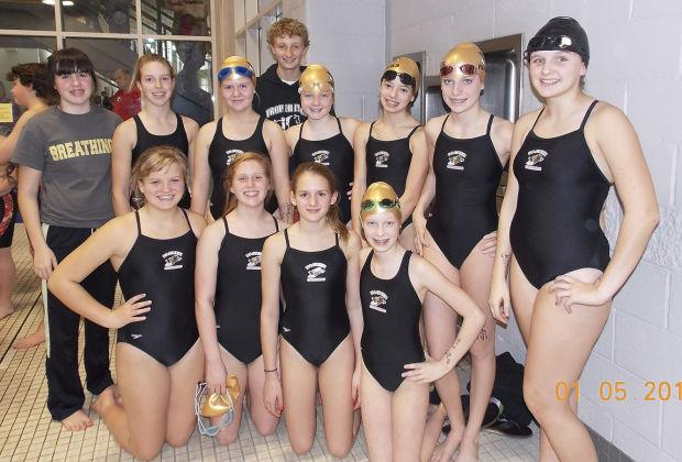 Middle school swim team performs well | Sports ...