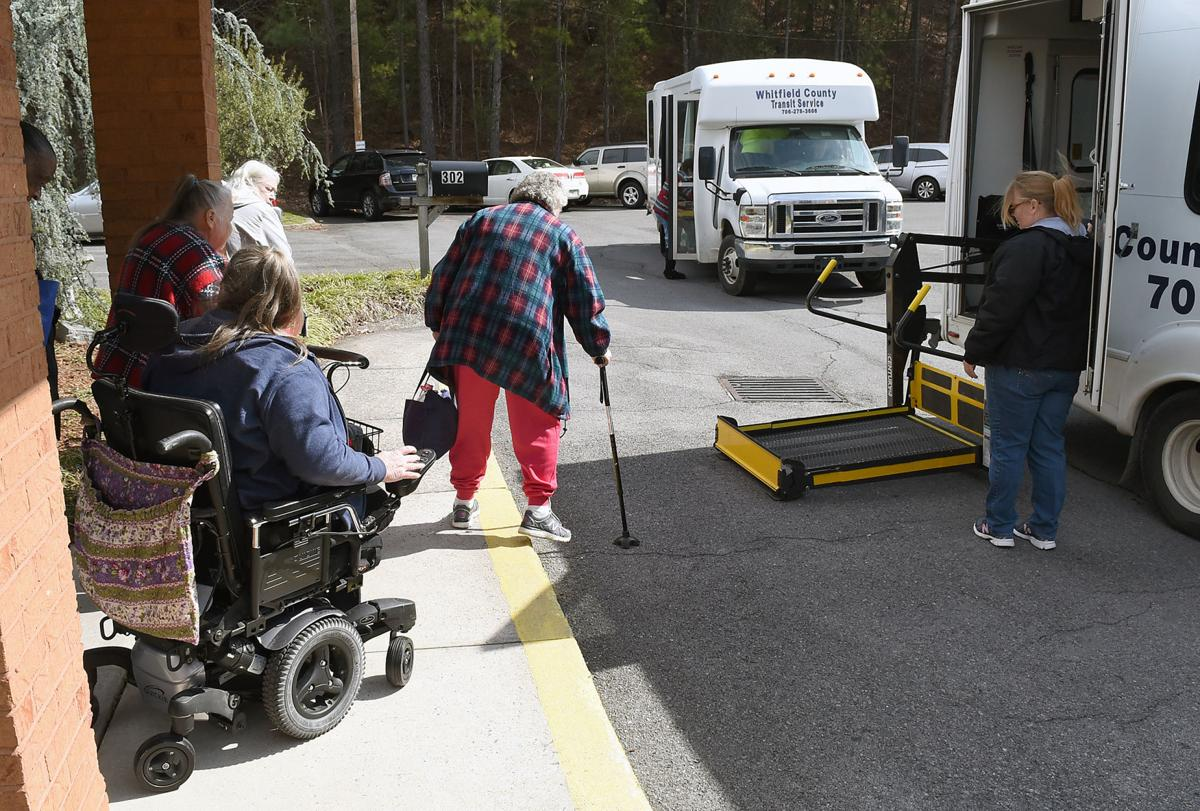 Seniors ride the bus